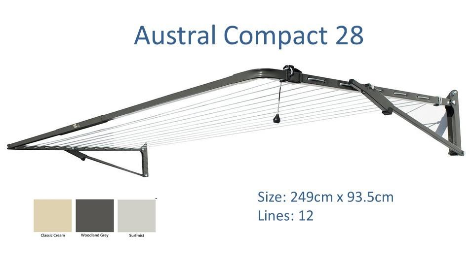 austral compact 240cm wide colour options