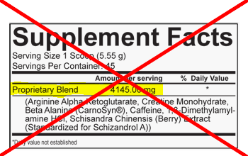 say no to proprietary blends