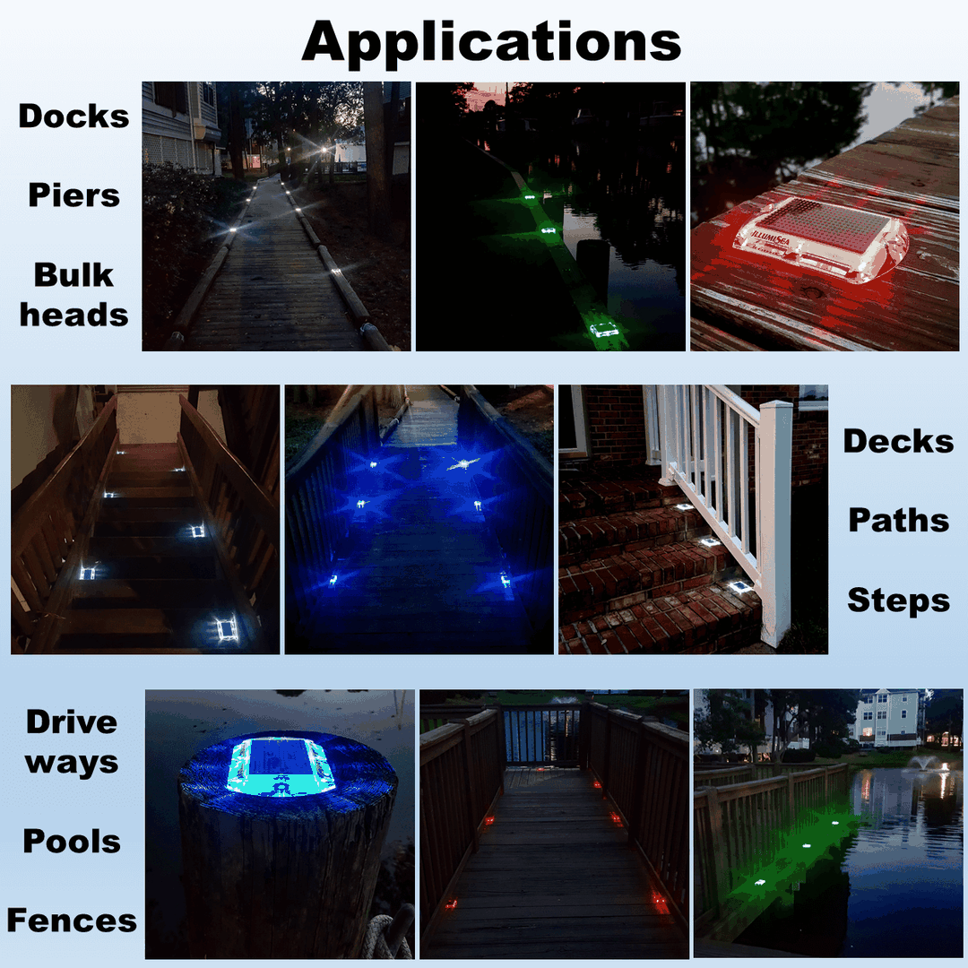 solar led dock lights applications
