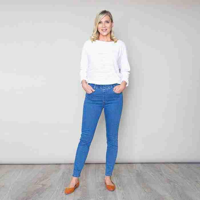Stud Pocket Denim Trouser