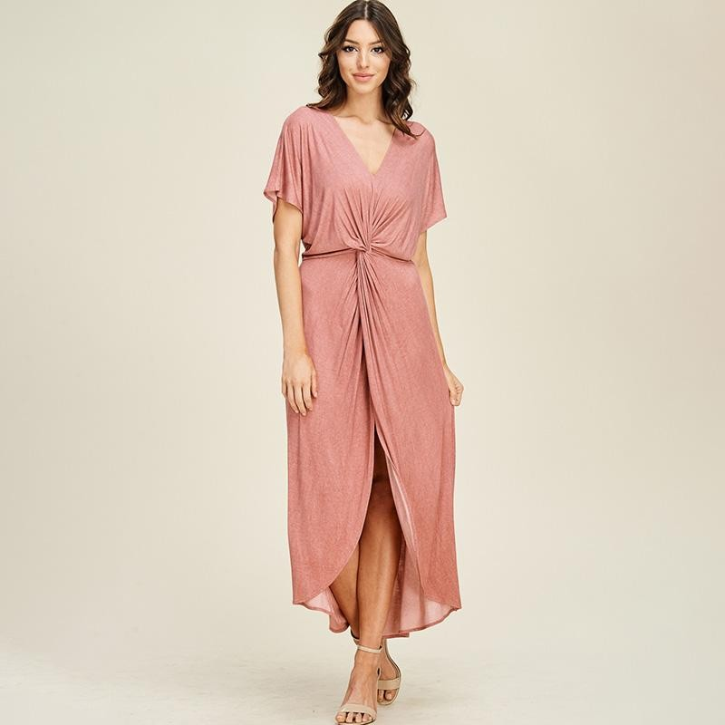 Twist Maxi Dress Mauve