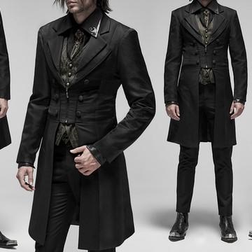 gothic gentlemen coat worn with the gunpowder gold vest