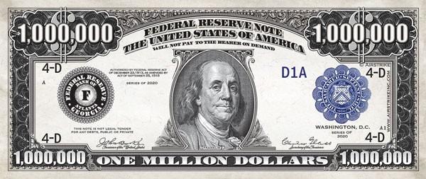 Million Dollar Bill Product Page