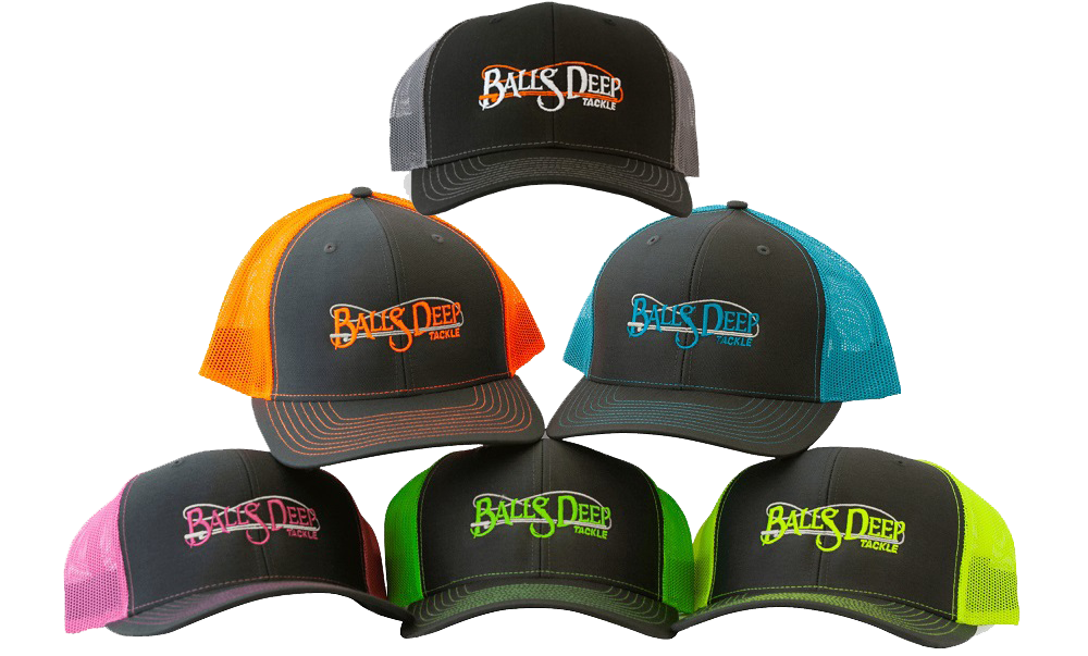 BALLS DEEP TACKLE SNAPBACK HAT (7 COLORS)