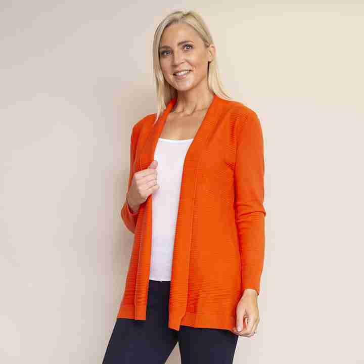 Roll Collar Cardi(Orange)