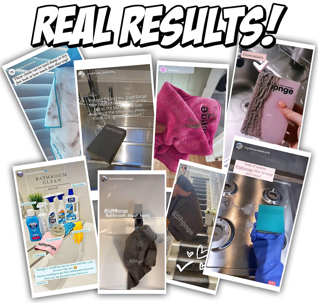 real results Super Absorbent Cloth Sph2onge cleaning