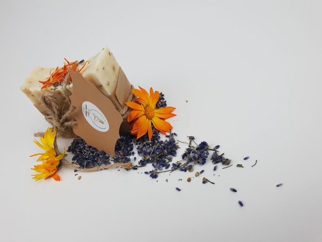 calendula & lavender hand made soap