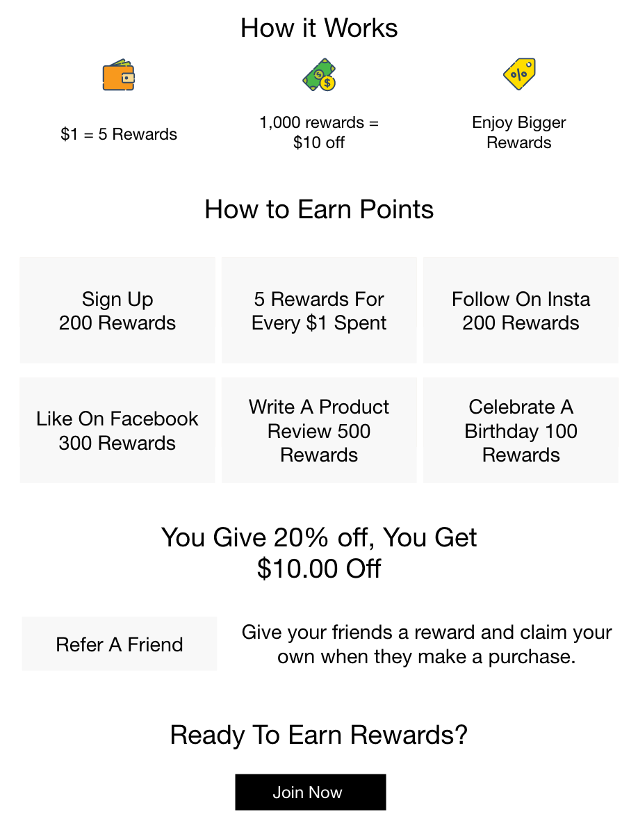 DWC Rewards Information