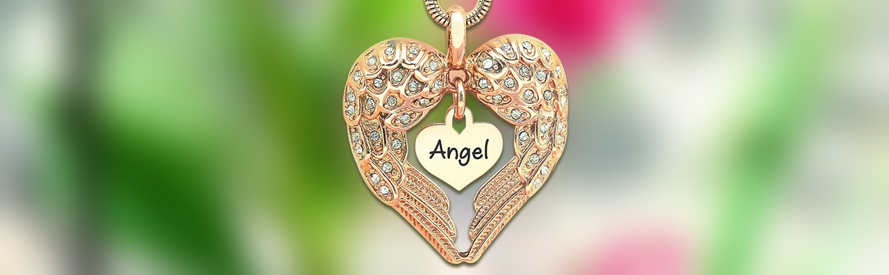 Angel Heart Necklace with Heart Insert