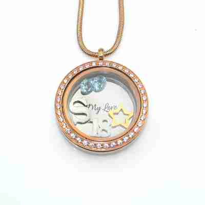 Dream Locket Necklace with charm