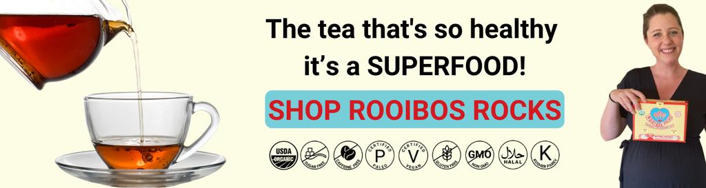 Rooibos Rocks Rooibos Tea home page banner