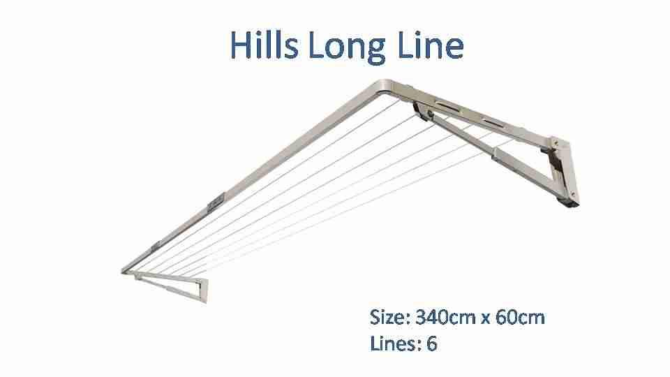 340cm clothesline austral slenderline 20