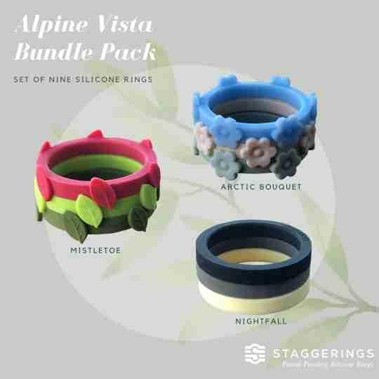 The 3 bundles included in the Alpine Vista Bundle Pack