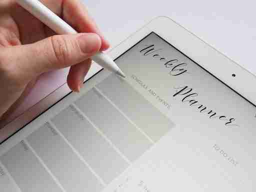 weekly planner planning fitness goals
