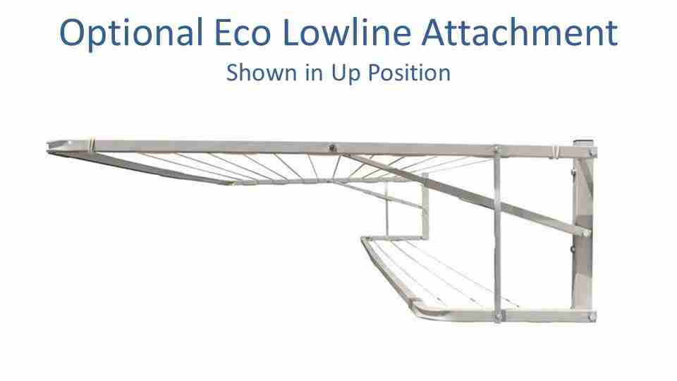 eco lowline attachment for 270cm wide clotheslines like the Eco 270