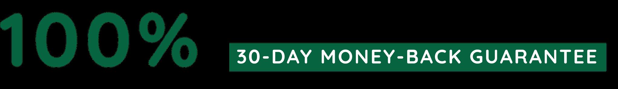 100% Satisfaction 30-Day Money-back Guarantee