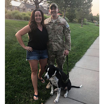 Koda the Dog with Air Force Dad