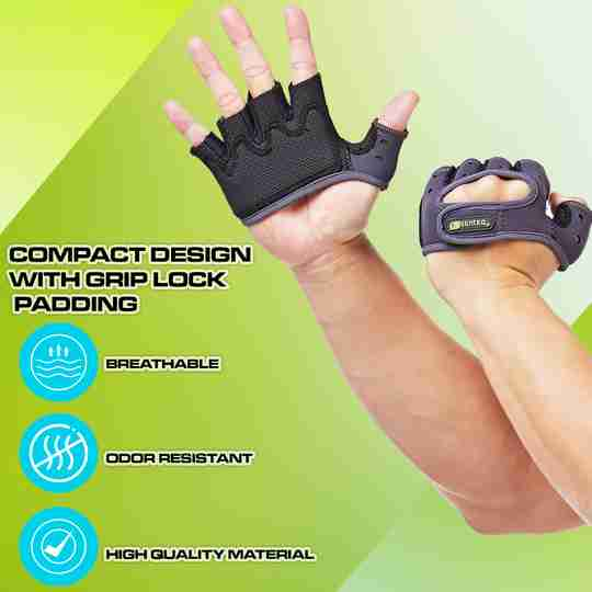 Workout Gloves Weight Lifting - Men /Women Gym Weightlifting Crossfit - Womens Exercises Fitness Training - Mens Grips Sailing Rowing Work Weights Exercise - Hands Grip Fingerless