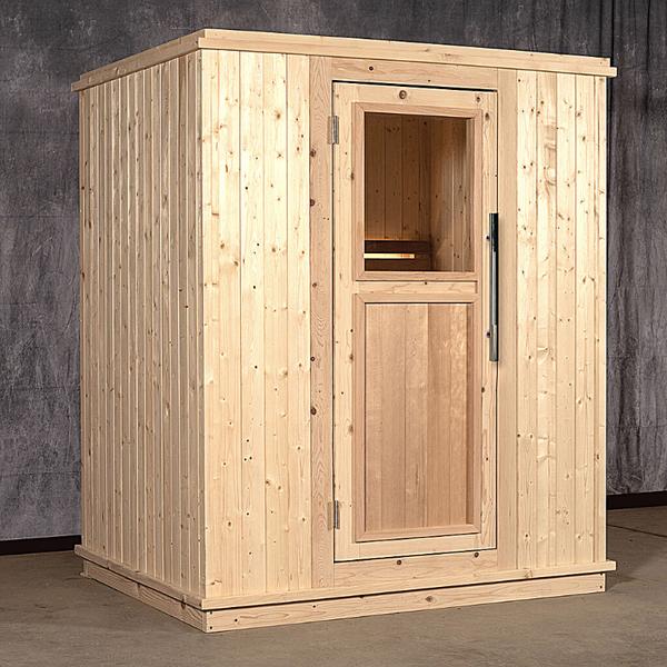 2 Person Indoor Sauna with Wood Door with Window