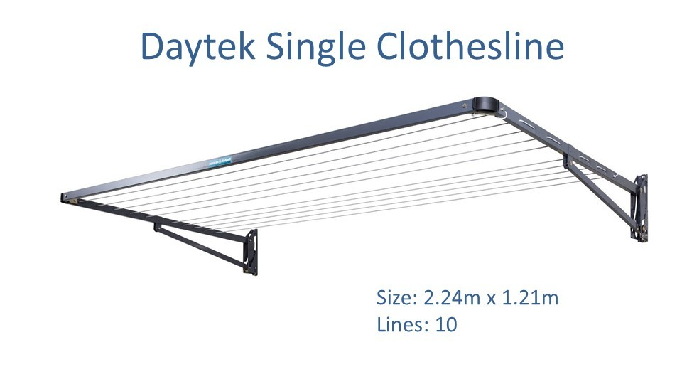 daytek single 2.2m wide clothesline dimensions