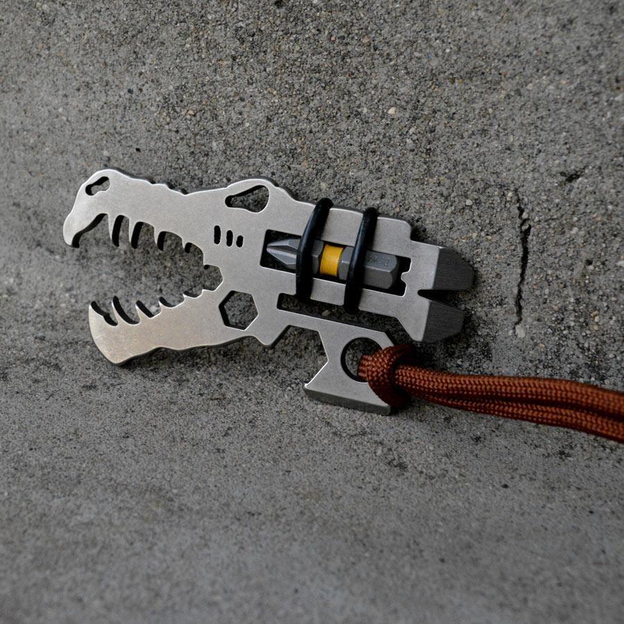 stainless steel jurassic croc dinosaur bottle opener