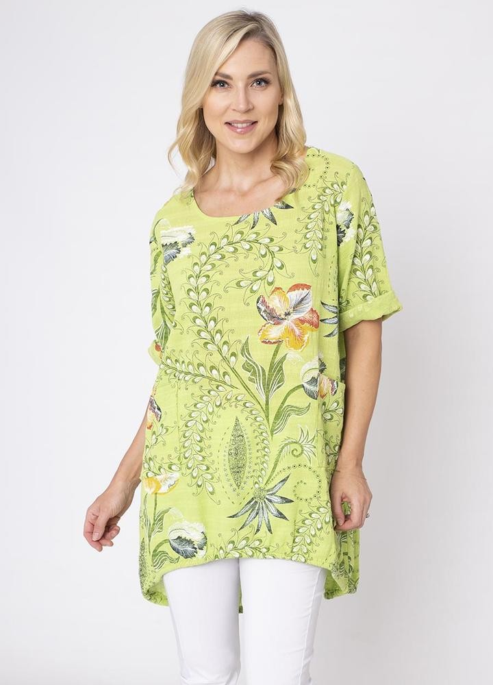 2 Pocket Floral Tunic