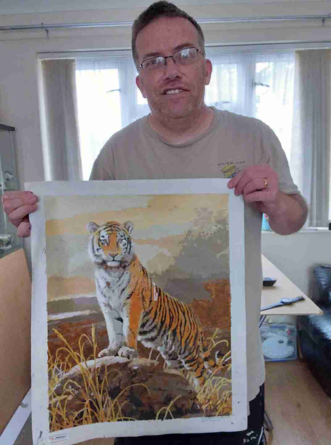 Andi with his Majestic Tiger painting