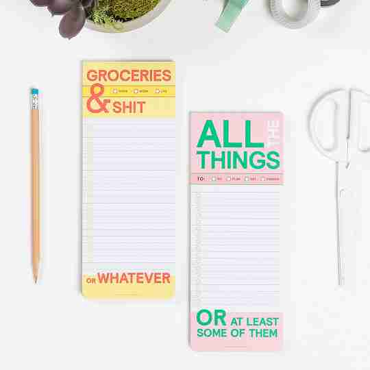 List Pads | Twisted Wares®