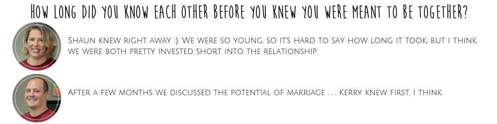 How Long Did You Know Each Other