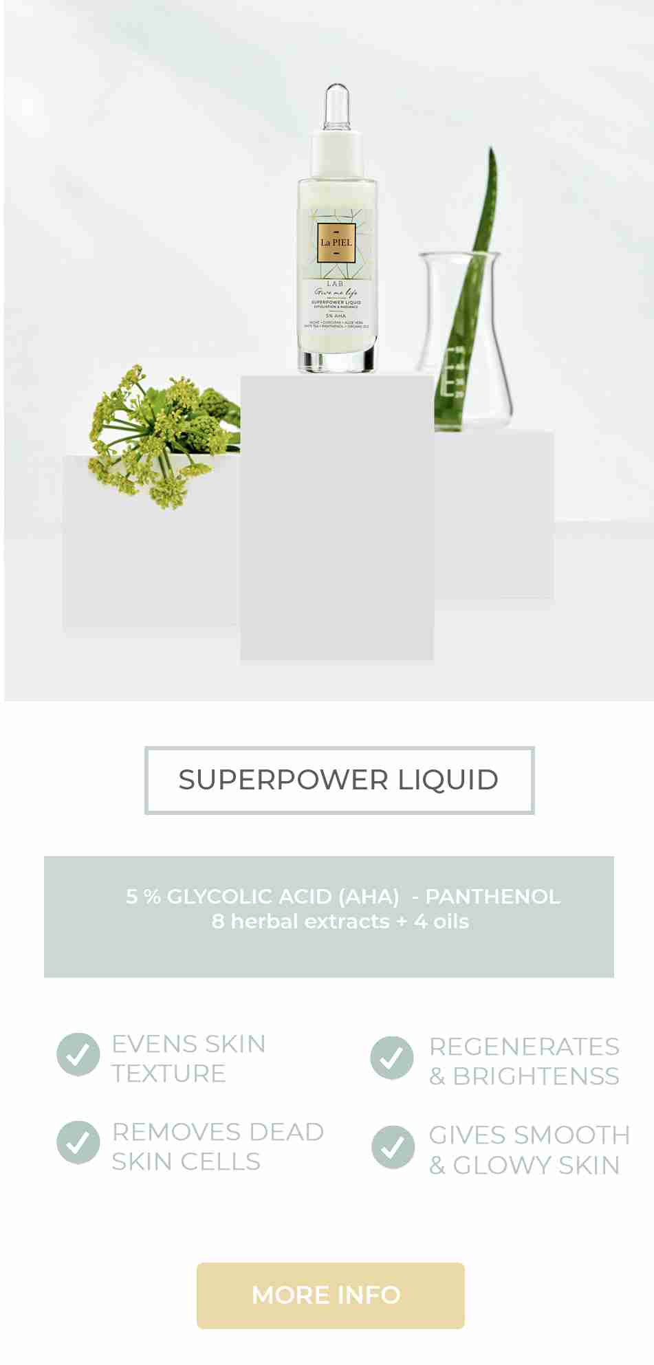 Superpower Liquid Face Peeling Za Lice La PIEL LAB Natural Skincare
