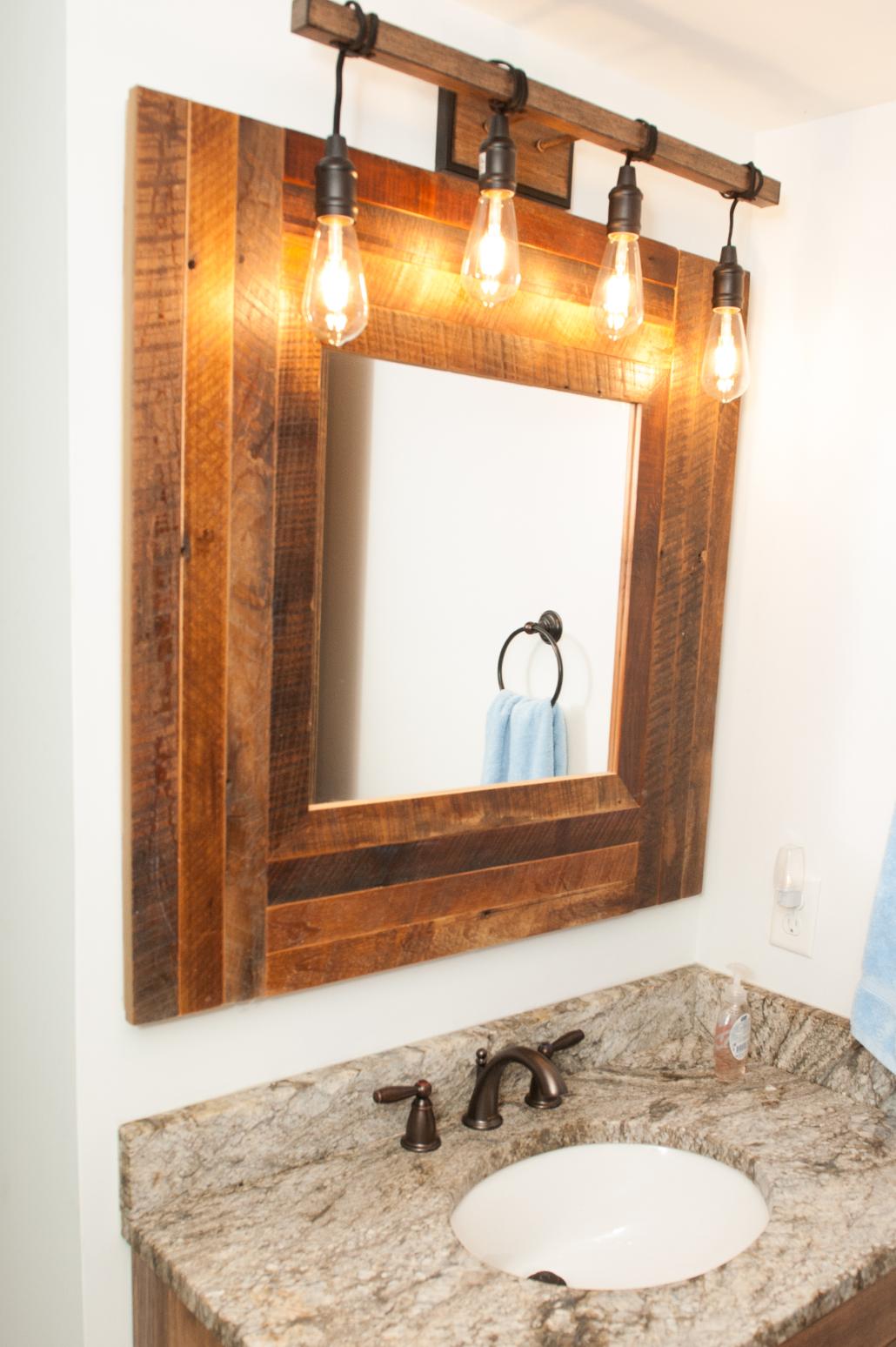 reclaimed barnwood mirror