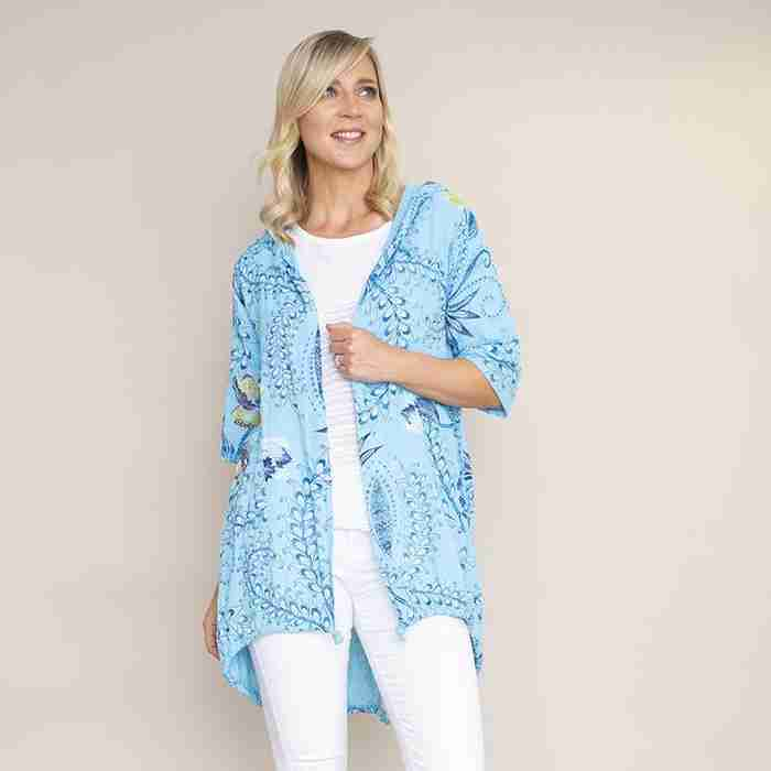Lily Cotton Hoody Jacket(Blue)€48.00