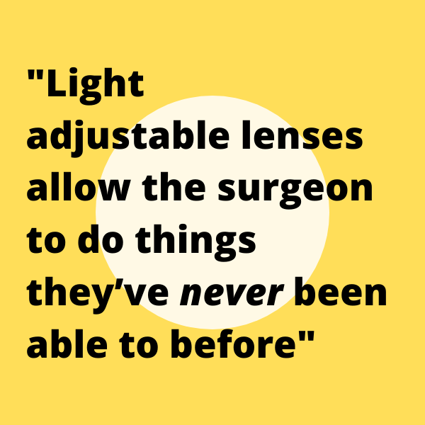 Light Adjustable Lens Implant