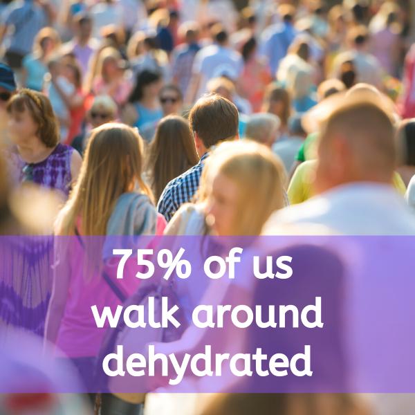 75% of us walk around dehydrated