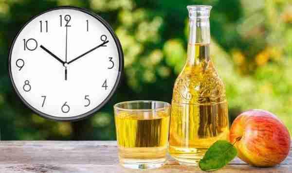 Apple Cider Apple Forest Background Clock
