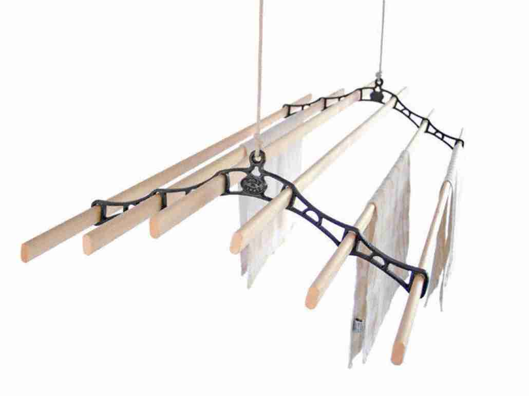 kitchen maid ceiling clothes airer