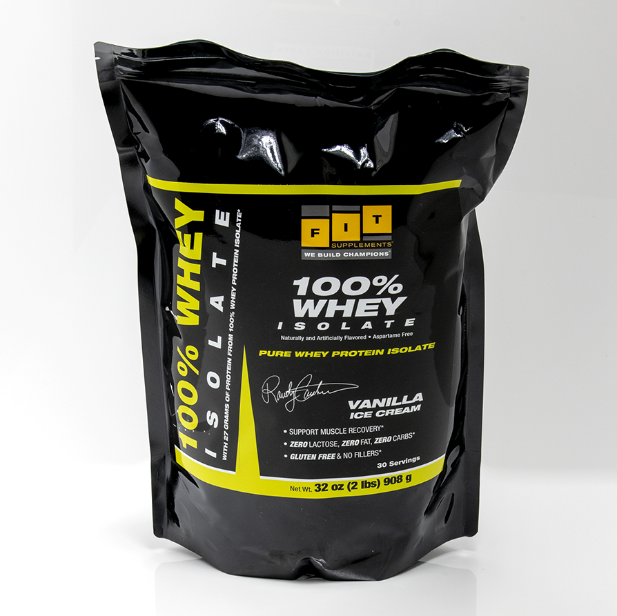 100% whey isolate vanilla ice cream supplement
