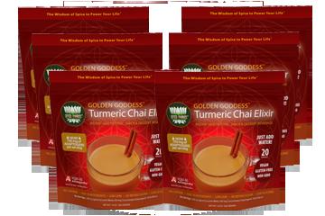 Golden Goddess Turmeric Chai Elixir 6 Bags