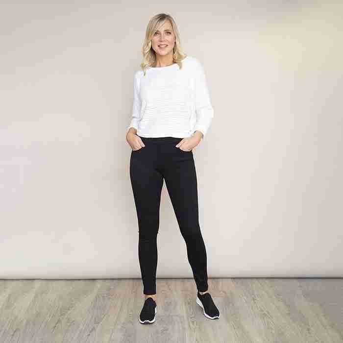 Ann's Stretch Waist Trousers(Black)