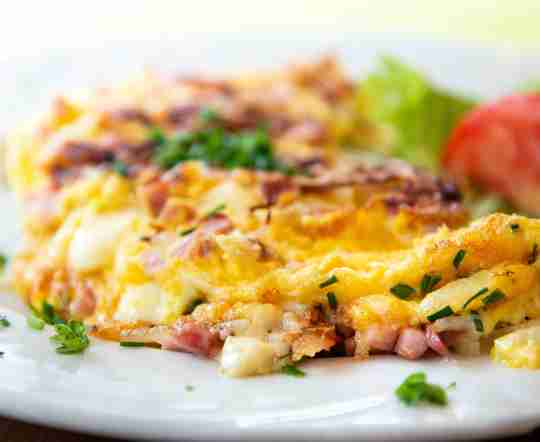 Morning breakfast omelet to support natural muscle growth.