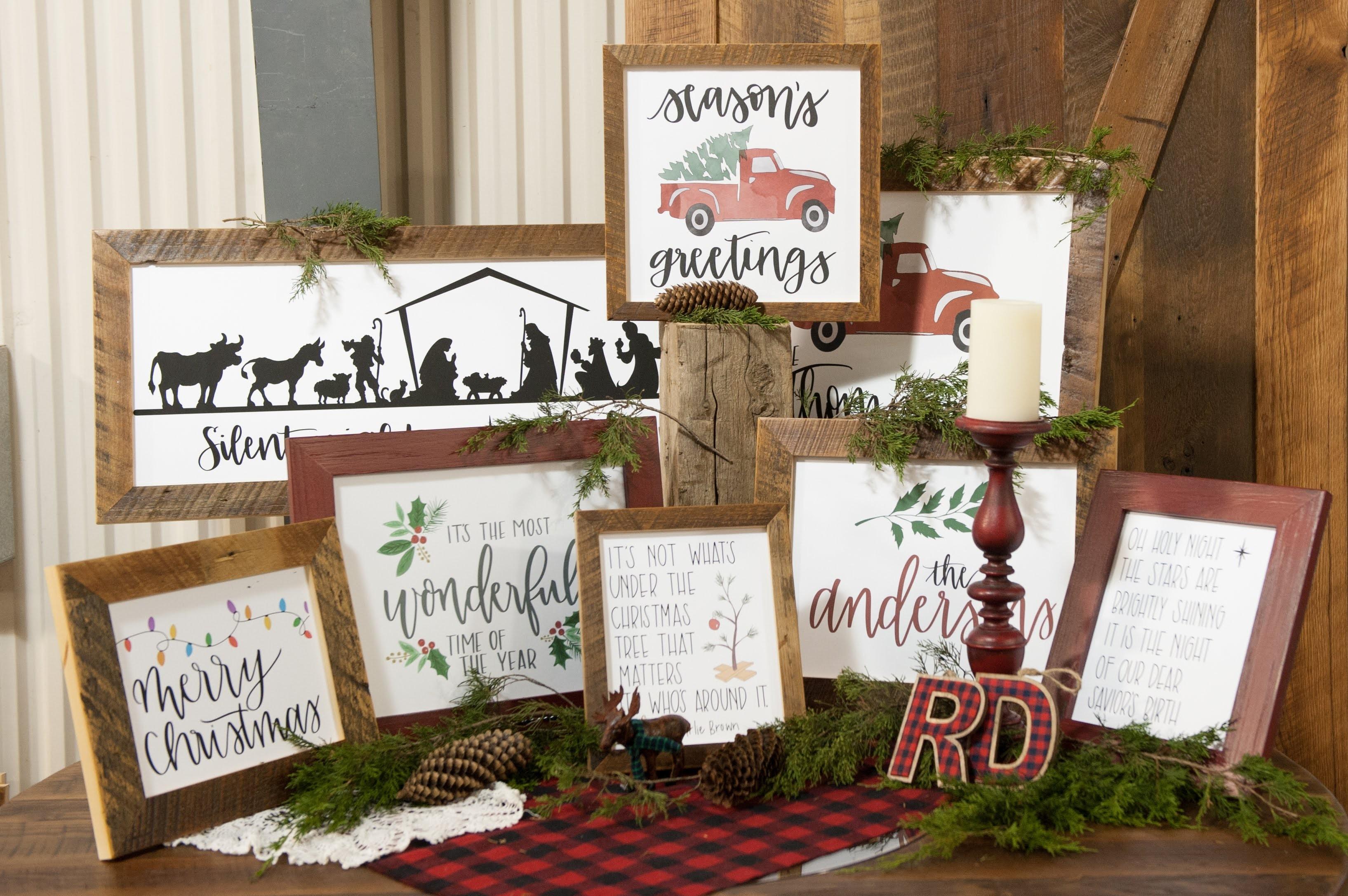 Rustic Christmas WAll Art