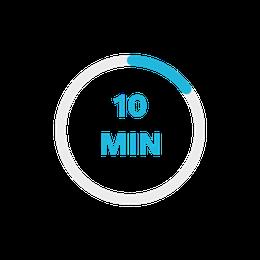 10 minute installation clock