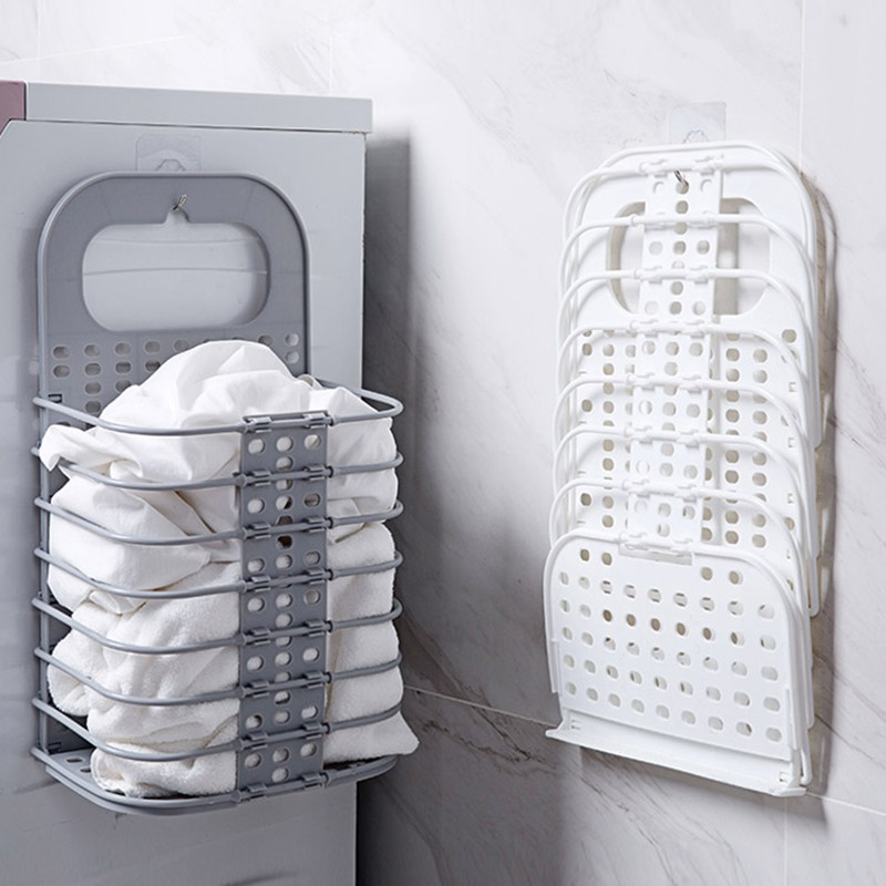 Hanging laundry basket