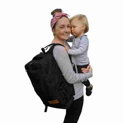 Adventure Nappy Backpack mum with baby