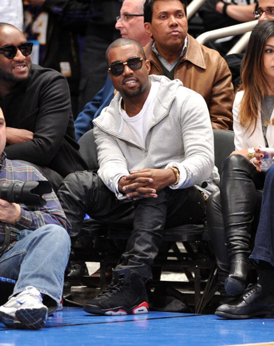 Kanye West in the Air Jordan 6