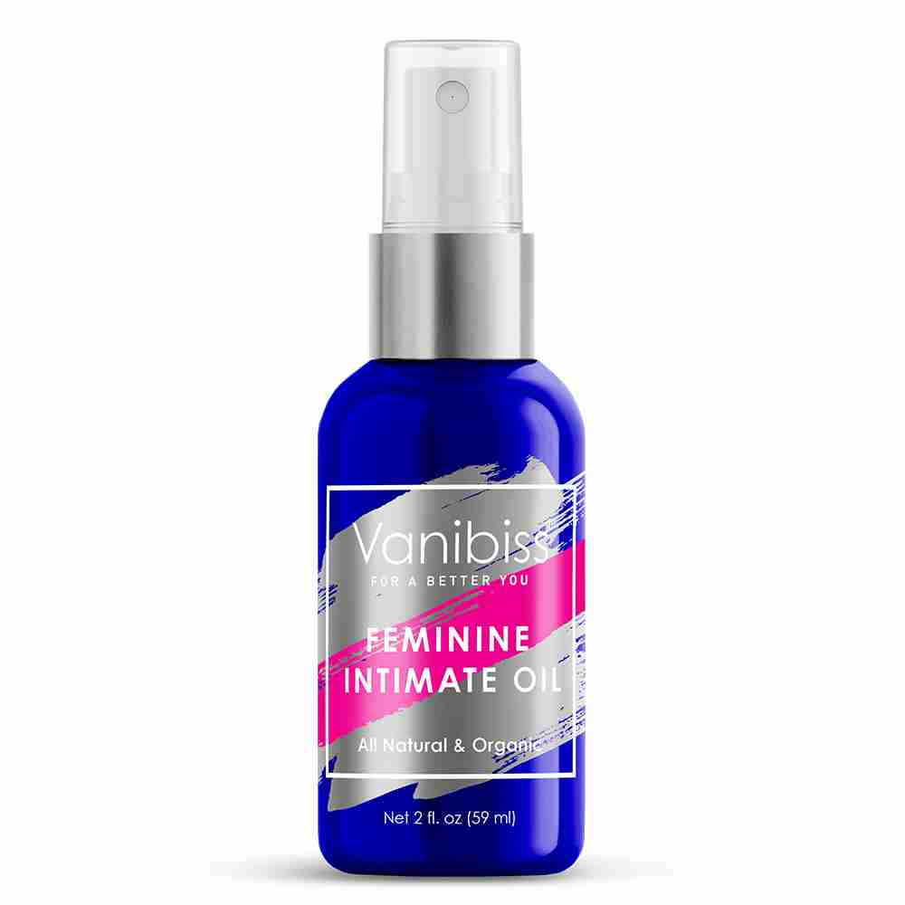 Vanibiss Feminine Intimate Oil Spray - For common yeast infections, BV, vaginal odor, dryness and most common vaginal issues.
