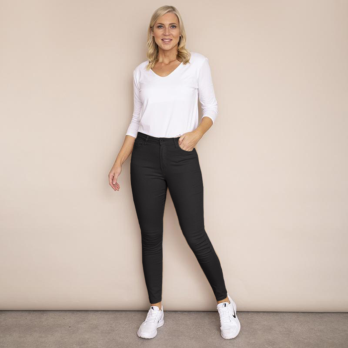 Kylie Cotton Trousers(Black)