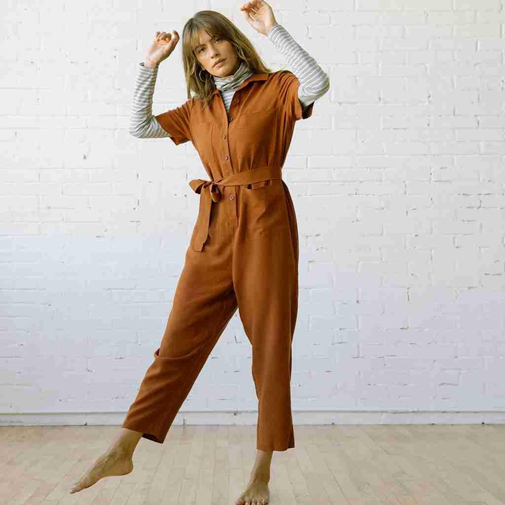 Finn Jumpsuit Clay Linen Tencel
