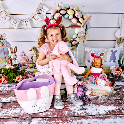 Club Eimmie Brand Ambassador with Easter Basket, Plush Bunny and Eimmie Doll