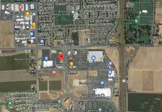 Sleep First Lodi CA Map